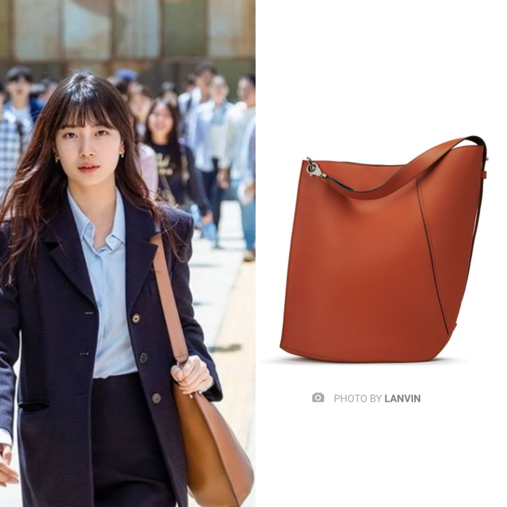 Bae Suzy's Hook Bag from Lanvin