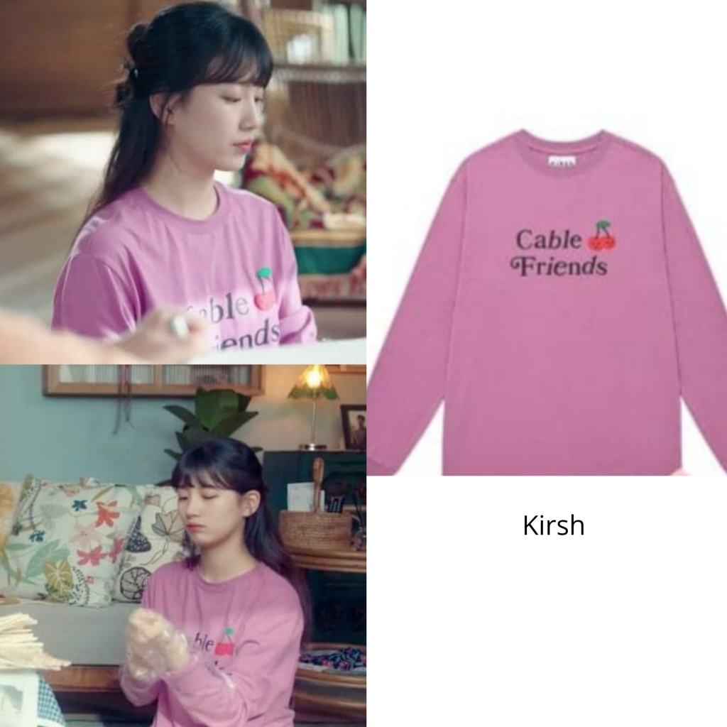 bae suzy's Cable Frinds T-Shirt