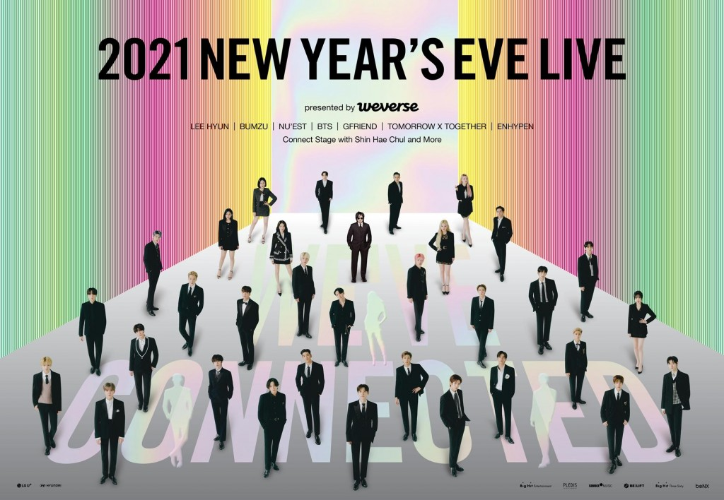"""Big Hit Labels' 2021 New Year's Eve Live Event with """"We've Connected"""" Theme"""